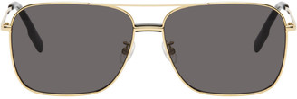 Kenzo Gold and Grey Shiny Endura Sunglasses