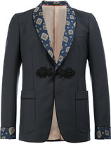Gucci patterned shawl lapel blazer - men - Cupro/Mohair/Wool - 46