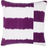 Madeline Weinrib Striped Ikat Pillow-PURPLE