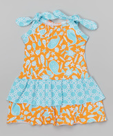 Flap Happy Tangerine Tide Lola Dress - Infant & Toddler