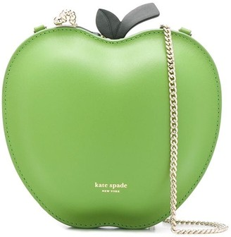 Kate Spade Picnic Apple logo print crossbody bag