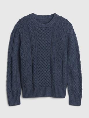 Gap Kids Cable Knit Crewneck Sweater