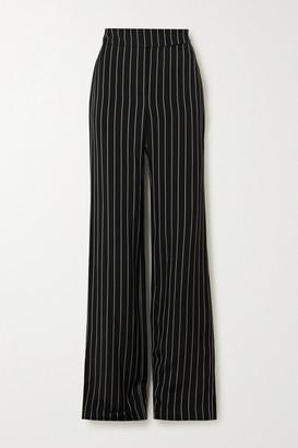 Alexandre Vauthier Pinstriped Twill Wide-leg Pants - Black