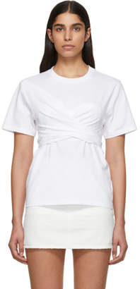Cédric Charlier White Wrapped T-Shirt