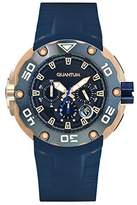 Quantum Hunter Men's Quartz Watch with Chronograph Quartz Silicone hng470.999