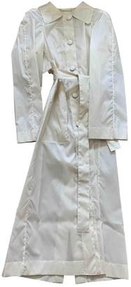 Lemaire Ecru Silk Trench coats