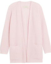 By Malene Birger Belinta Brushed Ribbed-knit Cardigan - Pastel pink