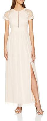 Little Mistress Women's Nude Bead Maxi Dress, Pink