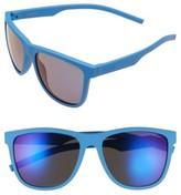 Polaroid Women's 56Mm Retro Polarized Sunglasses - Blue/ Grey Blue Mirror