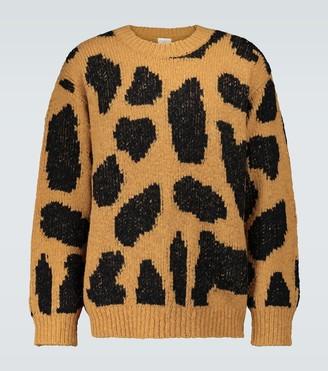 Dries Van Noten Oversized animal print sweater