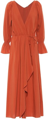 Cult Gaia Oona cotton-blend midi dress