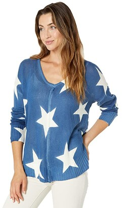 Rock and Roll Cowgirl Long Sleeve Oversized Star Sweater 46-9950