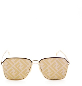 Fendi Eyewear FF Monogram Lens Sunglasses