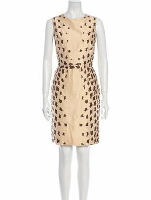 Oscar de la Renta Animal Print Knee-Length Dress