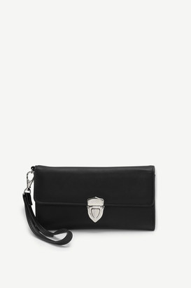 Ardene Faux Leather Clip Wallet