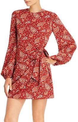 Aqua Paisley Faux-Wrap Dress - 100% Exclusive