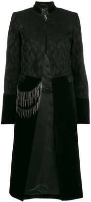 Isabel Benenato Chain-Detail Long Coat