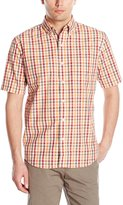 Arrow Men's Short Sleeve Hamilton Poplin Multi Gingham Shirt
