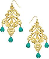 Harrison Morgan Turquoise Scroll Chandilier Earrings