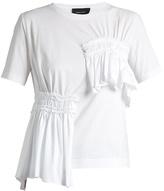 Simone Rocha Short-sleeved gathered-panel cotton T-shirt