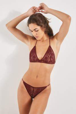 Out From Under Ginny Lace-Tie Knickers - black S at Urban Outfitters