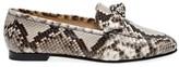 Alexandre Birman Becky Bow Python Loafers