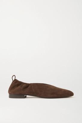 Co Suede Ballet Flats - Dark brown