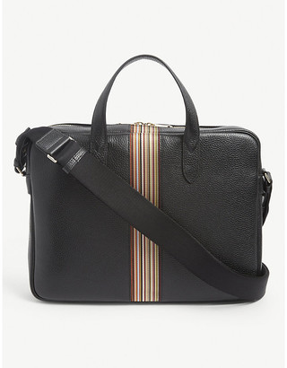 Paul Smith Artist Stripe leather satchel