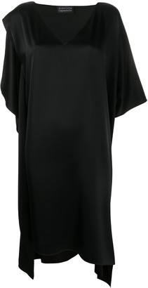 Gianluca Capannolo Silk Oversized Asymmetric Dress