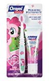 Orajel Toddler My Little Pony Training Toothpaste with Toothbrush, Pinky Fruity 1 oz (28.3 g)