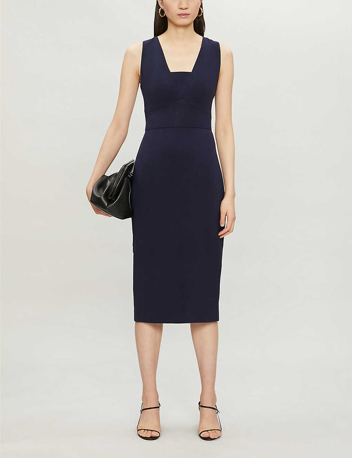 Ted Baker Sleeveless stretch-woven midi dress