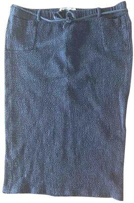 Humanoid Black Cotton - elasthane Skirt for Women