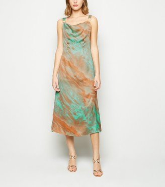 New Look Tie Dye Satin Cami Dress