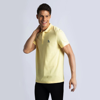 Lacoste Yellow Regular Fit Palm Tree Croc Polo Shirt M (Available for UAE Customers Only)
