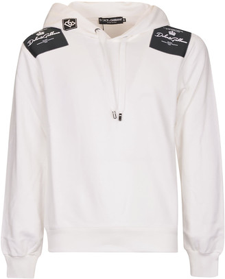 Dolce & Gabbana Signature Logo Patched Hoodie