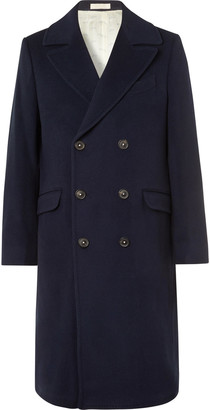 Massimo Alba Double-Breasted Virgin Wool Overcoat