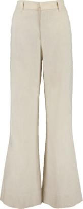 Brunello Cucinelli Elastic Back Full Linen Pant