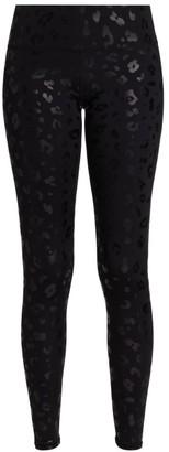 Terez Tall Band Black Cheetah Foil Leggings