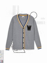 Frank and Oak Golden State Warriors Varsity Cardigan in Grey
