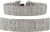 TriJewels Diamond Bracelet with Milgrain Work (SI1-SI2-Clarity, -Color) 4.00 ct tw in 14K White Gold