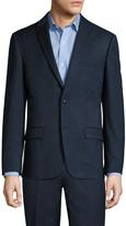 Ben Sherman Men's Wool Sharkskin Peak Lapel Blazer