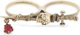 Alexander McQueen Jewelled sword two-finger ring