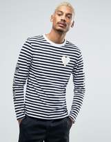 Billionaire Boys Club Long Sleeve Striped Tee With Sleeve Print