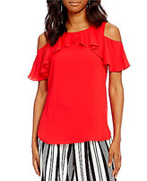Gibson & Latimer Off-the-Shoulder Ruffle Blouse