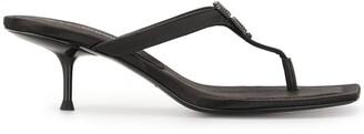 Alexander Wang Logo Open-Toe Mule Sandals