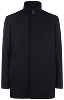 Jaeger Wool Twill Car Coat, Black