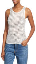 Marc Jacobs Rhinestone Embellished Tank Top, White
