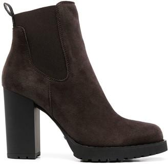 Hogan Suede High Heel Boots