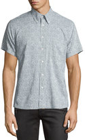 Billy Reid Floral Short-Sleeve Oxford Shirt