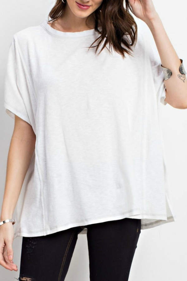 Easel Oversized Knit Tee